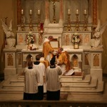 Gospel procession: Munda Cor Meum