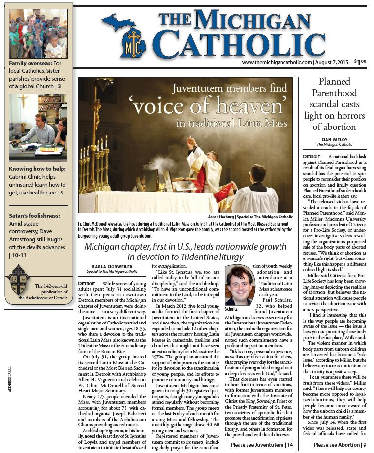The Michigan Catholic - August 7, 2015